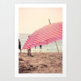 Summer Beach Umbrella Art Print