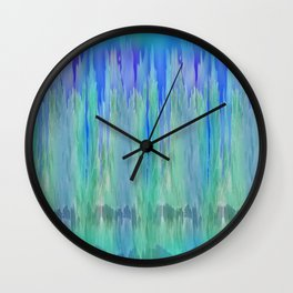 Shadows and Reflections in Shades of Blue and Green Wall Clock