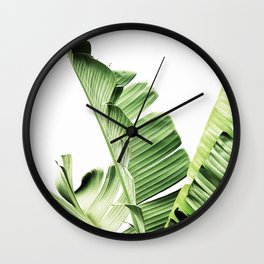 Banana leaves, Leaf, Plant, Modern, Wall Art, Tropical Wall Clock