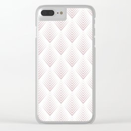Abstract Skin Tone Leafs Pattern Clear iPhone Case