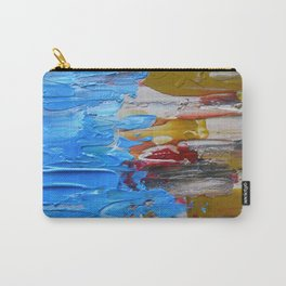 Beach Tide Acrylics On Stretched Canvas Carry-All Pouch