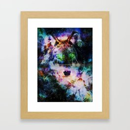 ASCTD Galaxy  Wolf Framed Art Print