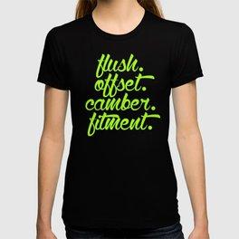flush offset camber fitment v2 HQvector T-shirt