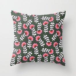 Camelita Retro Folk Flower Throw Pillow
