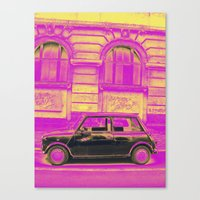 mini Canvas Prints featuring MINI by Louisa Rogers