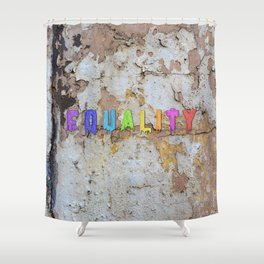 Equality Paint Shower Curtain