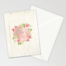 Typography A Mothers Heart Stationery Cards