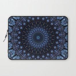 Dark and light blue mandala Laptop Sleeve