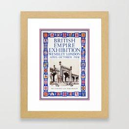 1924 British Empire Exhibition Wembley London Framed Art Print