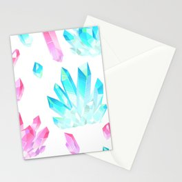 Crystals Illustration Stationery Cards