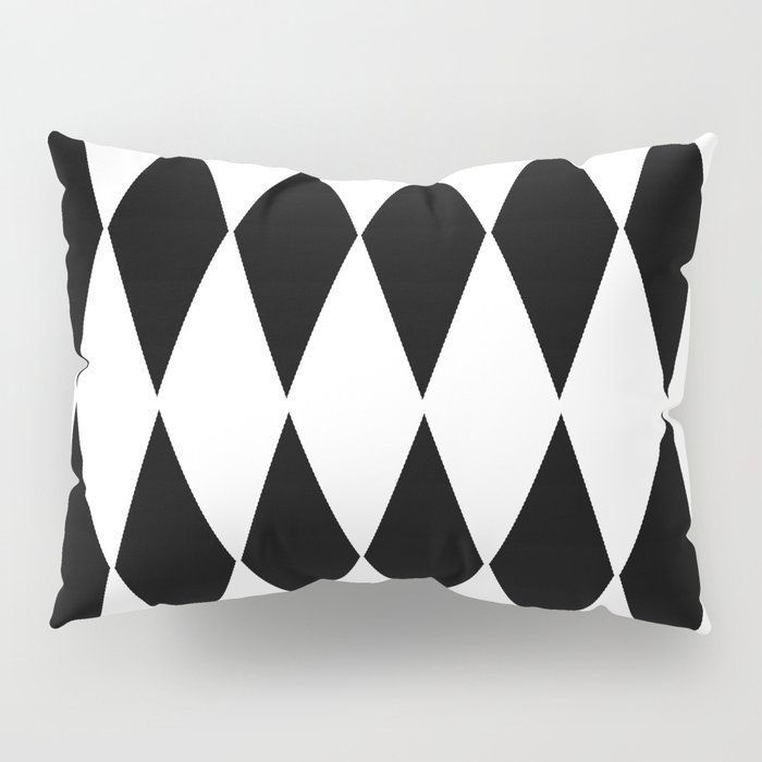 LARGE  WHITE AND BLACK   HARLEQUIN DIAMOND PATTERN Pillow Sham