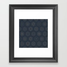 Geocircles (Blue II) Framed Art Print