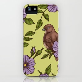 Purple Wild Rose iPhone Case