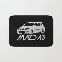 Mazda 3 - silver - Bath Mat