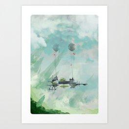 The Lost Research Vessel Art Print