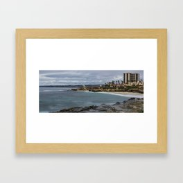 Casa and Wipeout Beaches, La Jolla, California Framed Art Print