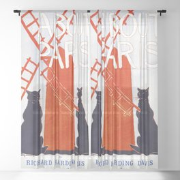 About Paris (1895) vintage poster by Edward Penfield Sheer Curtain