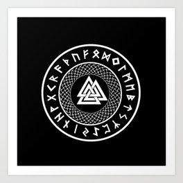 Valknut - Wotans Knot - Odin Rune Art Print