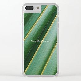 Feels like summer Clear iPhone Case