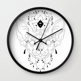 Mandala Sphynx Wall Clock