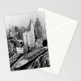 Largest travel Chicago River Chicago Illinois Stationery Cards