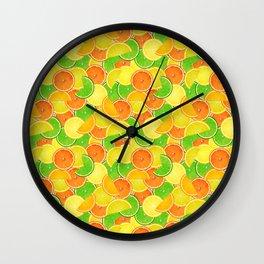Lemon Lime Orange Wall Clock