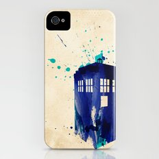 Doctor Who TARDIS Rustic iPhone (4, 4s) Slim Case