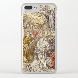 Albrecht Durer - Angel With The Key Of The Abyss Clear iPhone Case
