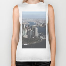 NYC Downtown Aerial Biker Tank