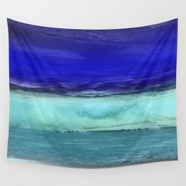 Midnight Waves Seascape Wall Tapestry