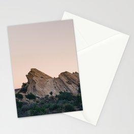 Sunset Over Desert Vasquez Rocks Stationery Cards