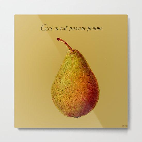 Ceci n'est pas une pomme  Metal Print