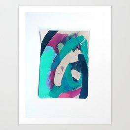 Sticks + Ink hot wax batik study 2.0 Art Print