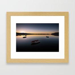 Sunrise over Knysna Lagoon in Western Cape, South Africa Framed Art Print