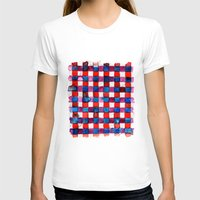 plaid T-shirts featuring Let's Plaid by Yaz Raja Designs