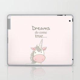 Dreams do come true art print, unicorn print, art for kids, art for baby, kids room decor Laptop & iPad Skin