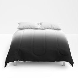 Black & White Ombre Gradient Comforters