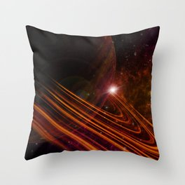 Space Scene in Autumn Throw Pillow