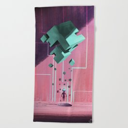 Cube. Beach Towel