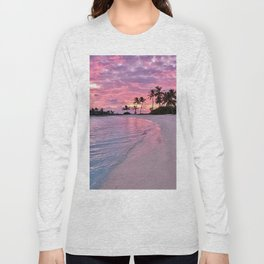 SUNSET AND PALM TREES Long Sleeve T-shirt