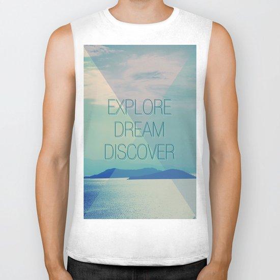Explore Dream Discover Biker Tank