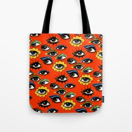 60s Eye Pattern Tote Bag