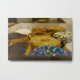Delicious Box of Donuts Photograph Metal Print