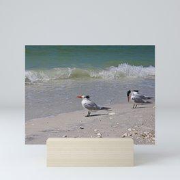Waiting for Waves Mini Art Print