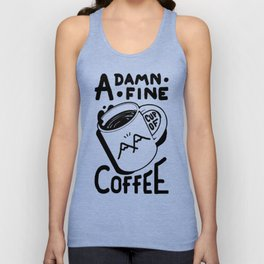 TWIN PEAKS QUOTE A DAMN FINE CUP OF COFFEE T-SHIRT Unisex Tank Top