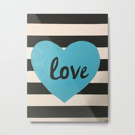 Love striped Metal Print