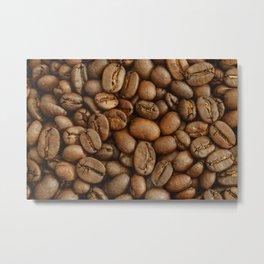 Roasted Coffee Beans Metal Print