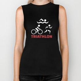Triathlon disciplines swimming T-Shirts Biker Tank