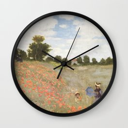 Poppies, Claude Monet, 1873 Wall Clock