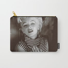 Monroe Black and White Portrait Carry-All Pouch